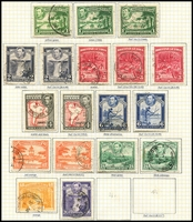 Lot 3390 [1 of 3]:1938-52 KGVI Pictorials SG #115-26a 1c to $2 incl most shades/perfs, plus 1c to 12c QEII Pictorials with all shades, Cat £50+. (37)