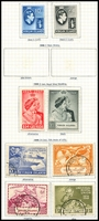 Lot 3406 [2 of 2]:1938-47 KGVI SG #110-29 Range complete set incl both both papers of ½d - 3d, plus Silver Wedding pair and used UPU set, Cat £110. (24)