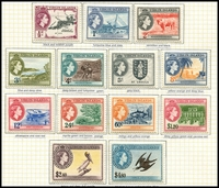 Lot 3408:1956-62 QEII Pictorials SG #149-61 complete set, Cat £110. (13)