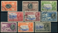 Lot 3447:1935 Pictorials SG #96-105 ½d to 2/-, 2/- slightly aged, Cat £120.