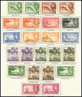 Lot 3449:1938-48 Pictorials SG #115-26a complete set incl all shades/pertfs, Cat £90+. (23)