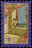Lot 7:France 1946 Tuberculosis: 50fr 'large stamp' in original packet, fair condition.