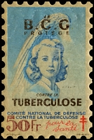 Lot 69:France 1948 Tuberculosis: 50fr 'large stamp' in original packet, good condition.