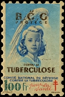 Lot 13:France 1948 Tuberculosis: 100fr 'large stamp' in original packet, good condition.