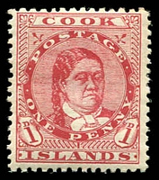 Lot 3365:1913-19 Wmk NZ/Star SG #41 1d red P14x14½, Cat £11.