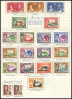 Lot 3516:1938-47 KGVI Pictorials SG #99-108a complete mint set incl both 2½d, Cat £28. Plus used Coronation set etc. (20)
