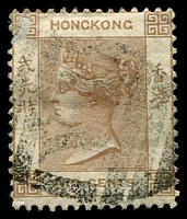 Lot 21096 [3 of 4]:1863-71 Wmk Crown/CC SG #8,9b 2c brown x3 & 4c slate, all small faults (4)