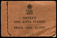Lot 3758:1929 KGV Stitched SG #SB18a 1a (wmk inverted SG #203w) with 2 part panes and 2 complete panes, small faults, Cat £275.