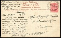 Lot 1008:South: 'TRAVELLING POST OFFICE/12JA1909/3 SOU