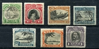 Lot 4034:1932-36 Pictorials SG #62-8 complete set, mixed centring, Cat £13 (7)