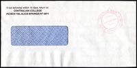Lot 7312:Alice Springs: - red double-circle 'POSTAGE PAID/9AUG1996/ALICE SPRINGS NT 0870' on cover.  PO 1/1/1878.