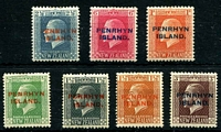 Lot 4081:1917-20 Ovpts on KGV NZ SG #24-31 simplified set of 7, 2½d is P14x14½, Cat £36.