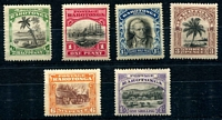 Lot 4323:1920 Pictorials No Wmk SG #32-7 set of 6, Cat £22. (6)
