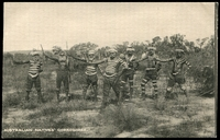 Lot 32:Australia - Aborigines: black and white PPC of 'AUSTRALIAN NATIVES' CORROBOREE', card #1644, unused.