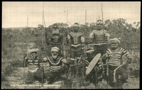 Lot 33:Australia - Aborigines: black and white PPC of 'AUSTRALIAN NATIVES' CORROBOREE', card #1645, unused.