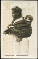 Lot 60:Australia - Aborigines: Rose 'P.2625 ABORIGINAL WOMAN AND CHILD', unused.