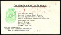 Lot 1049:1977 Agent-General, London stampless cover from London to Ludgate Hill, green Agent-General handstamp on face.