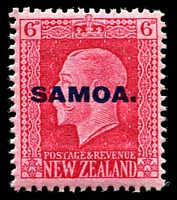 Lot 4126 [2 of 4]:1916-19 NZ KGV Opts SG #139a-42a set of 4 - recess printed P14x14½. (4)