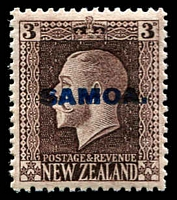 Lot 4126 [3 of 4]:1916-19 NZ KGV Opts SG #139a-42a set of 4 - recess printed P14x14½. (4)
