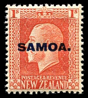 Lot 4126 [1 of 4]:1916-19 NZ KGV Opts SG #139a-42a set of 4 - recess printed P14x14½. (4)