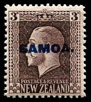 Lot 4125 [3 of 4]:1916-19 NZ KGV Opts SG #139-42 set of 4 - recess printed P14x13½, Cat £14. (4)