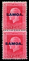 Lot 4127 [2 of 4]:1916-19 NZ KGV Opts SG #139b-42b set of 4 - recess printed vertical pairs P14x13½ & P14x14½, Cat £82. (4 prs)