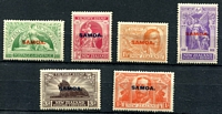 Lot 4129:1920 NZ Victory Opts SG #143-8 complete set of 6, Cat £32.