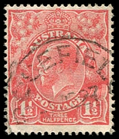Lot 1711:Rosefield: - 'ROSEFIELD/1JE27/S.A.' on 1½d red KGV.  PO 24/3/1924; renamed Highgate PO 1/12/1964.