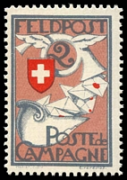 Lot 28742:1914-18 Feldpost 2 red, lilac-rose & grey