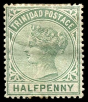 Lot 4451:1883-94 Wmk Crown/CA SG #106 ½d dull green, hinge rem, Cat £12.