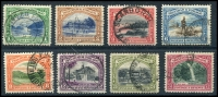 Lot 4464:1935-37 Pictorials SG #230-6,237 P12 1c to 72c excl 48c, Cat £35. (8)