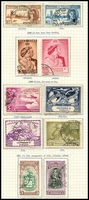 Lot 4468 [2 of 2]:1938-44 Pictorials SG #246-56 complete set incl a few extras, many with San Fernando Centenary cancels, several imprint/plate no pairs on piece, Cat £115. Plus all other KGVI issues. (38)