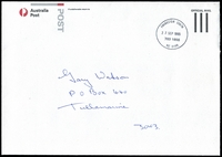 Lot 15065:Frankston South: - WWW #50 32½mm 'FRANKSTON SOUTH/27SEP1995/783 1855/VIC 3199', on stampless cover.  PO 27/10/1958; LPO 21/10/1993.