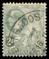 Lot 3350:1912-16 KGV Seal of Colony SG #173 2d greyish slate, Cat £24.