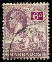 Lot 3352:1912-16 KGV Seal of Colony SG #177 6d dull purple & purple, Cat £12.