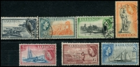 Lot 3357 [2 of 2]:1953-61 QEII Pictorials SG #289-301 complete set, Cat £18. (13)