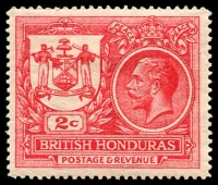 Lot 3397 [2 of 2]:1921-22 Peace SG #121,123 2c rose-red & 4c slate ('PEACE' omitted), Cat £21. (2)