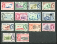 Lot 3451:1953-62 Pictorials SG #148-61 set to 10/-, hinge rems, Cat £72. (14)