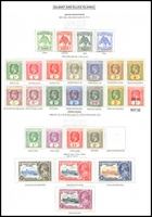 Lot 3644:1911-35 Issues SG #8-39 1911 Pandanus set, 1912-21 KGV to 5/-, 1918 War Tax, 1922-27 to 2d grey & Silver Jubilee set, attractively mounted on page, Cat £124. (26)