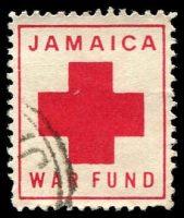 Lot 3861:1915c. Red Cross War Fund: red on white, used.