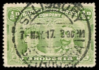 Lot 4195:1910-13 Double Heads Perf 14 SG #122 ½d dull green, Cat £80.