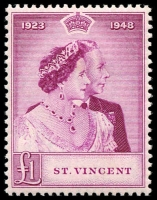 Lot 4332 [1 of 2]:1948 Silver Wedding SG #162-3 set, Cat £28 (2)