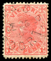 Lot 2293:Boort: - WWW #310 unframed '[M].O.&S.B/JE26/12/BOORT' (ERD) on 1d pink. [Rated 3R]  PO 14/8/1874; LPO 5/7/1994.