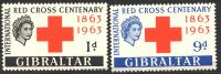 Lot 19426:1963 Red Cross SG 175-6, Cat £15½.