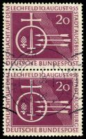 Lot 21965:1955 Lechfeld vertical pair, Mi #216 Cat €10+.