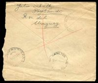 Lot 29017 [2 of 2]:1948 commercial registered cover to Australia with Monument 12c pair, roughly opened at right.