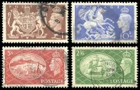 Lot 3672:1951 Festival High Values SG #509-12 2/6d to £1, Cat £25. (4)