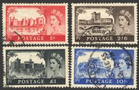 Lot 19440:1955-58 QEII Waterlow Castles SG #536-9 2/6d to £1, Cat £55. (4)