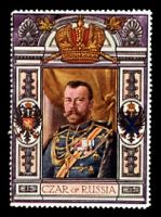 Lot 22:Russia: c.1916 multi-coloured label with portrait of the Czar of Russia issued for Lord Roberts Memorial Fund.