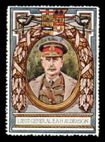 Lot 74:Great Britain: c.1916 multi-coloured label with portrait of Lieut-General E.A.H.Alderson issued for Lord Roberts Memorial Fund.